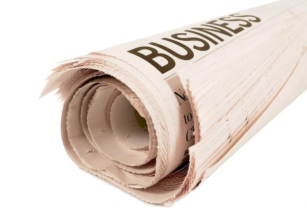 Headline jornal de negócios