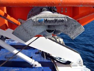 Hélice do barco da vida