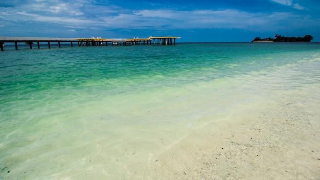 Heliporto na praia tropical