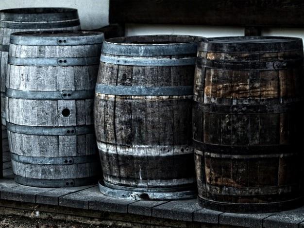 Herança barril barris de madeira