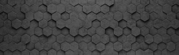 Hexagon tiles 3d pattern background
