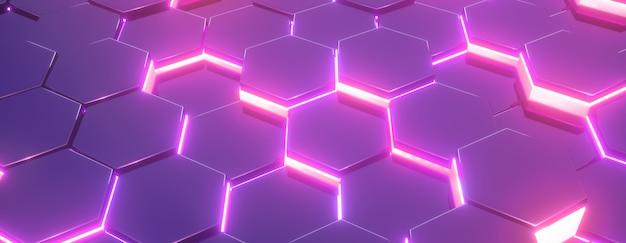 Hexágono rosa padrão abstrato moderno.