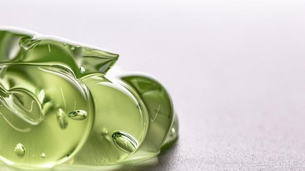 Higiene verde limpa textura de gel cópia espaço