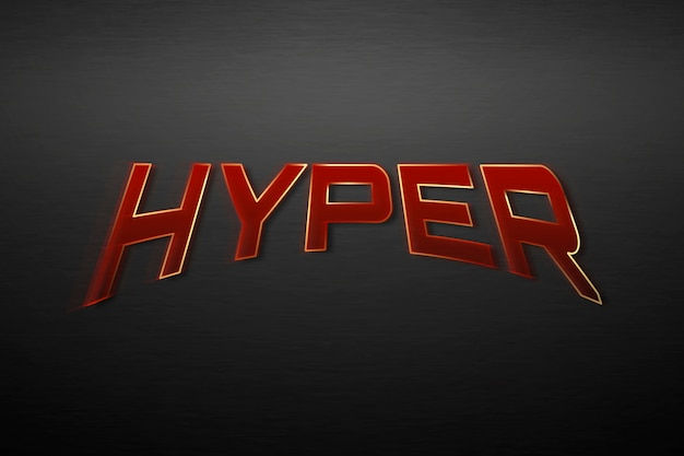 Hipertexto em ilustração de tipografia de super-herói vermelho