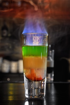Hiroshima burning cocktail no bar