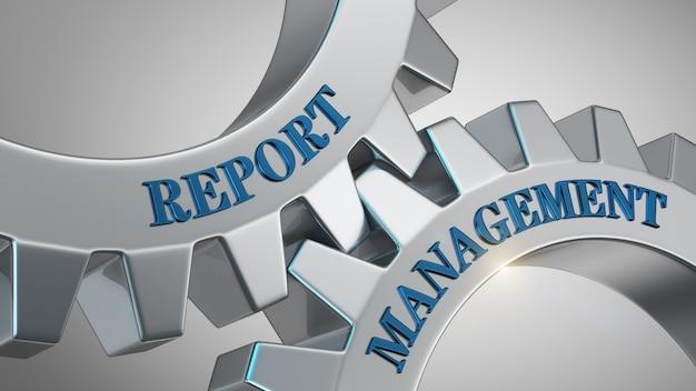 Histórico de gerenciamento de relatórios