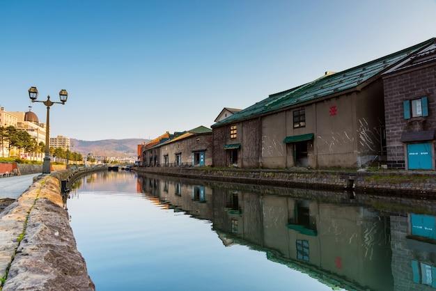 Histórico otaru canal e antigo armazém de construção