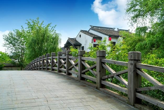 Histórico pitoresco cidade velha wuzhen, china