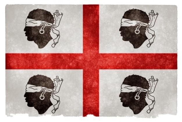 Histórico sardinia bandeira do grunge