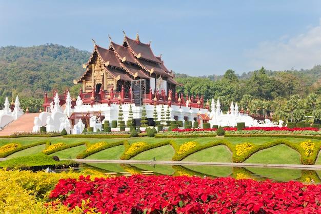 Ho kham luang na exposição internacional de horticultura de 2011, chiang mai, tailândia.