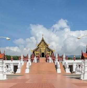 Ho kham royal pavilion, o estilo arquitetônico do norte da tailândia