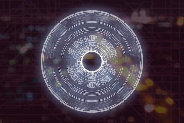 Holograma de interface moderna círculo hud no ar