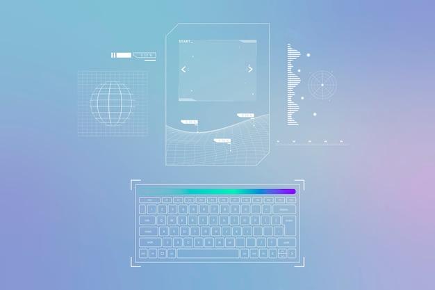 Holograma de para-brisa com interface de navegador de carro inteligente