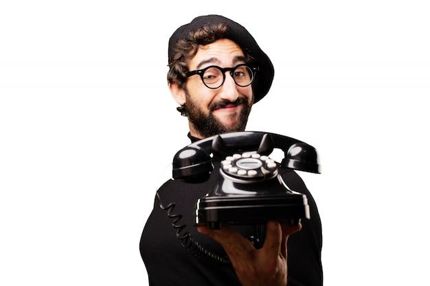 Homem à moda do artista francês louco