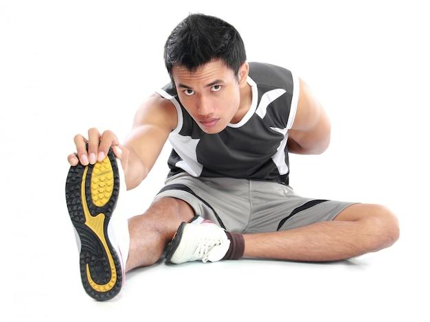 Homem asiático de fitness
