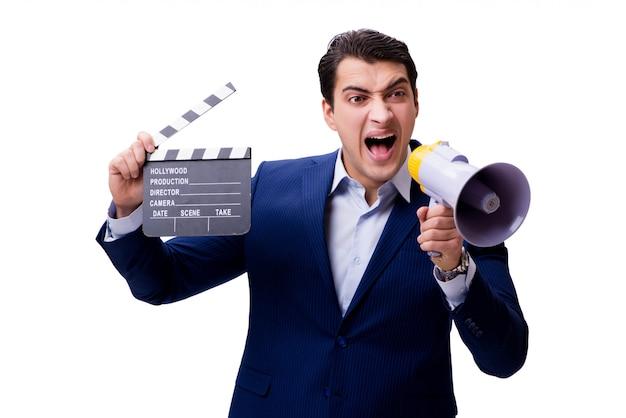 Homem bonito com badalo de filme