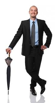 Homem, com, guarda-chuva