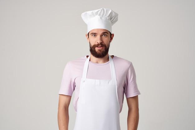 Homem com roupas de chefs, emoções, cozinha, trabalho, cozinhar