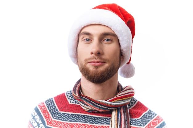 Homem com roupas de natal, estilo de vida divertido de natal