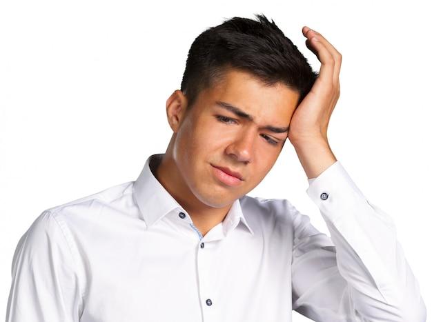 Homem, com, um, dor de cabeça