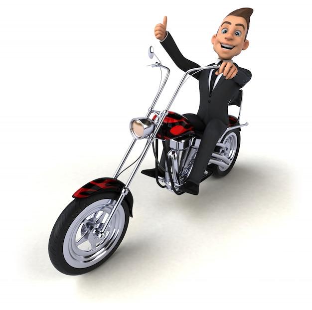 Homem de negócios divertido - ilustração 3d