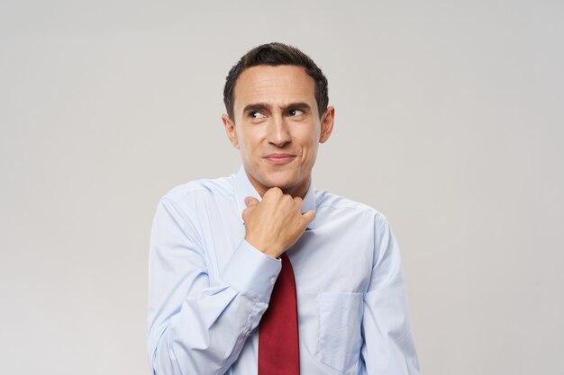 Homem de negócios em retrato de terno