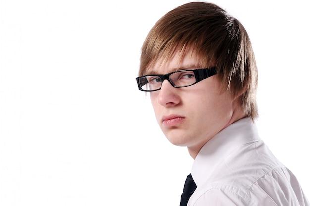 Homem de negócios jovem e atraente