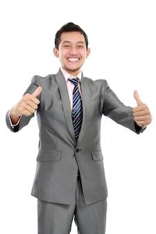 Homem de negócios polegar para cima