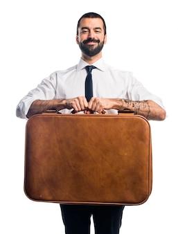 Homem de negócios segurando uma pasta