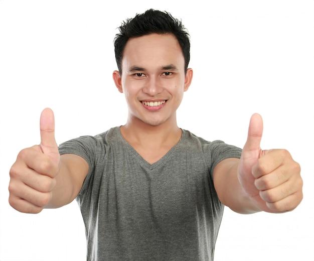 Homem desistindo polegares