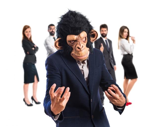 Homem do macaco irritado