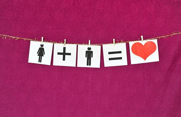 Homem e mulher e amor