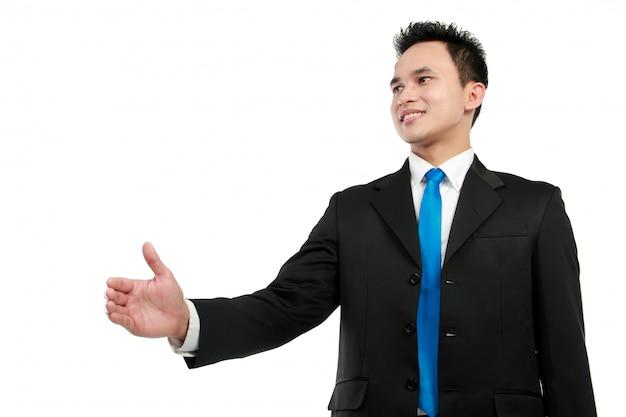 Homem, estendendo a mão para apertar