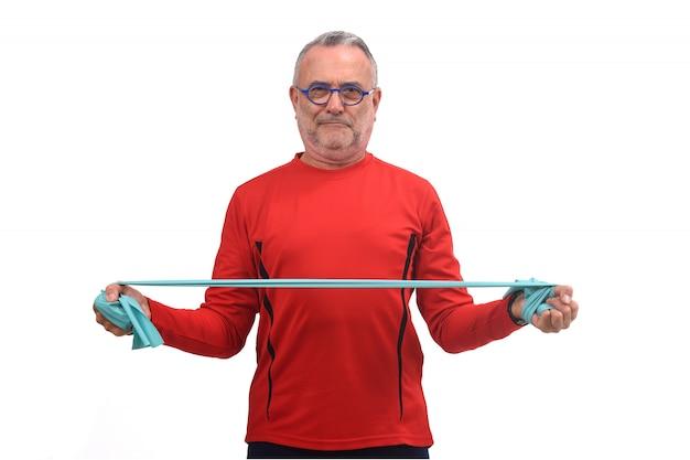 Homem, exercitar, branco
