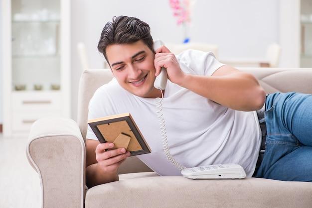 Homem jovem, em, triste, são, valentine, conceito