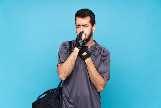 Homem jovem esporte com barba