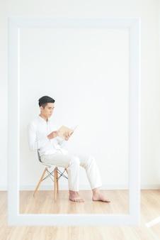 Homem leitura