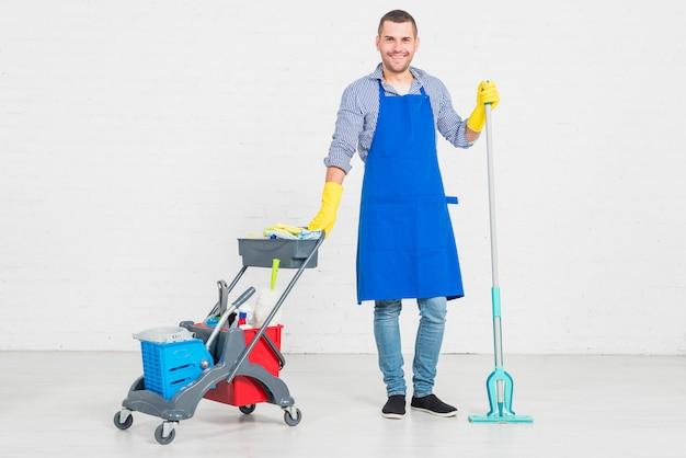 Homem, limpeza, seu, lar