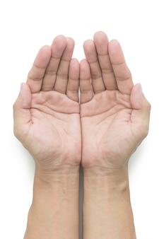 Homem, mão, dar, algo