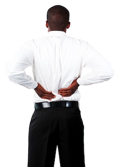 Homem musculoso com espinha dorsal