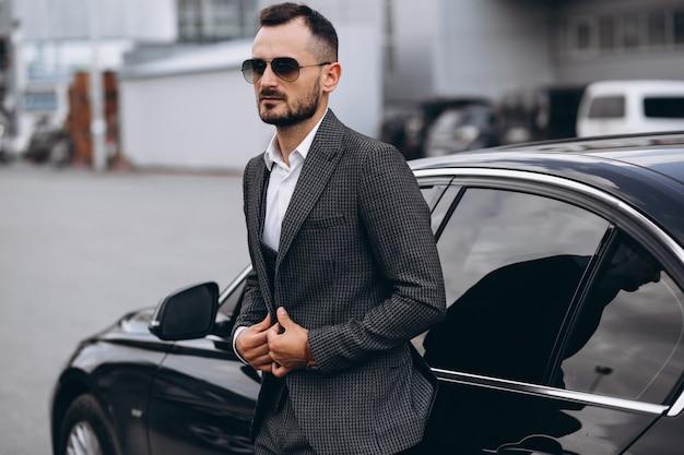 Homem negócio, carro