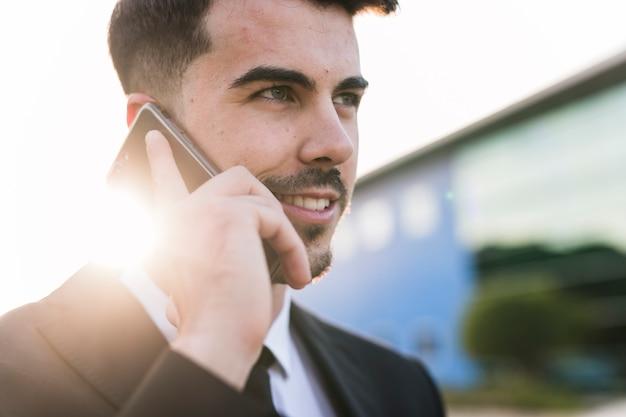 Homem negócio, telefone