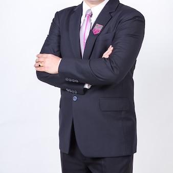 Homem negócios, isolado, branco