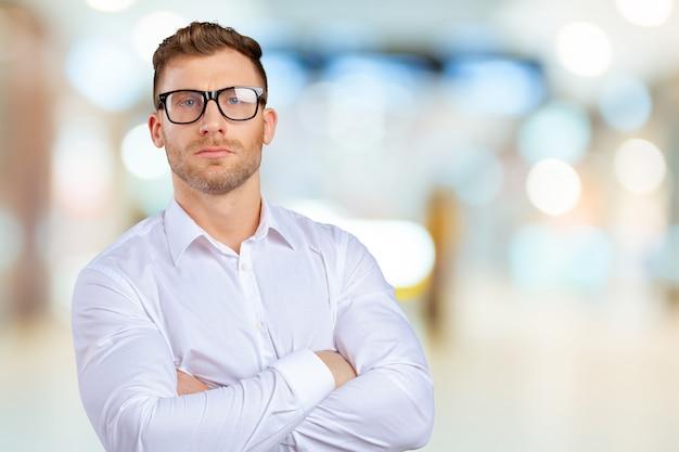 Homem negócios, retrato