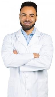 Homem negro africano-americano do doutor