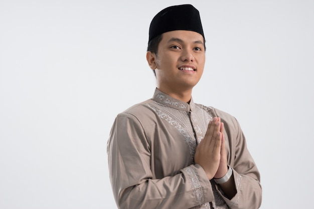 Homem religioso muçulmano