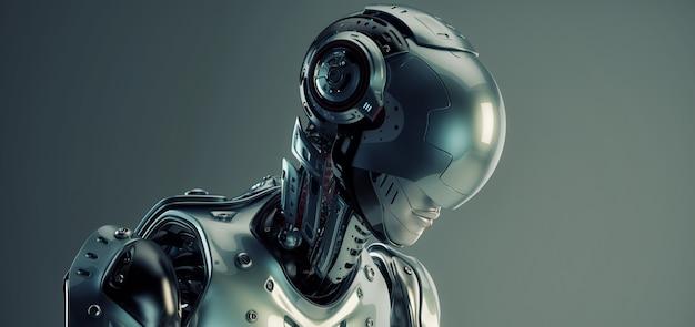 Homem robô de ficção científica
