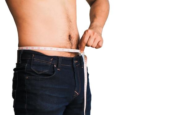 Homem tente peso perda isolado