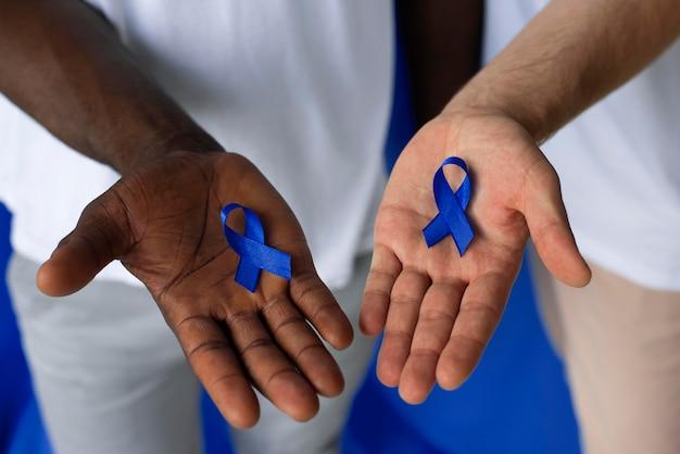 Homens com fita de câncer de próstata