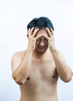 Homens dor de cabeça